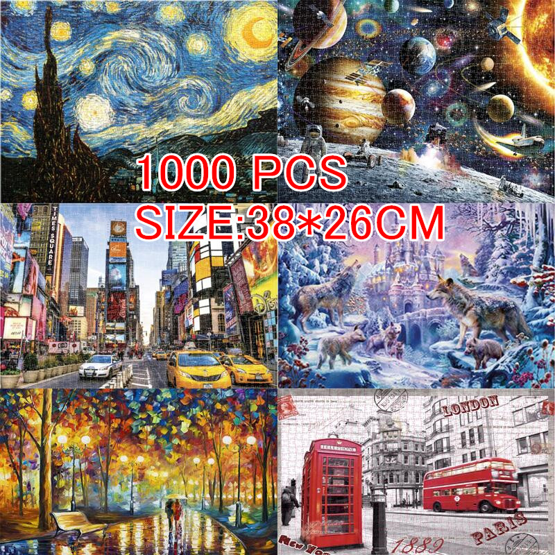 New Arrival Jigsaw Puzzles 1000 Pieces Picture Scenery Space Stars Puzzle Toys For Adults Children Kids Games Educational Toys