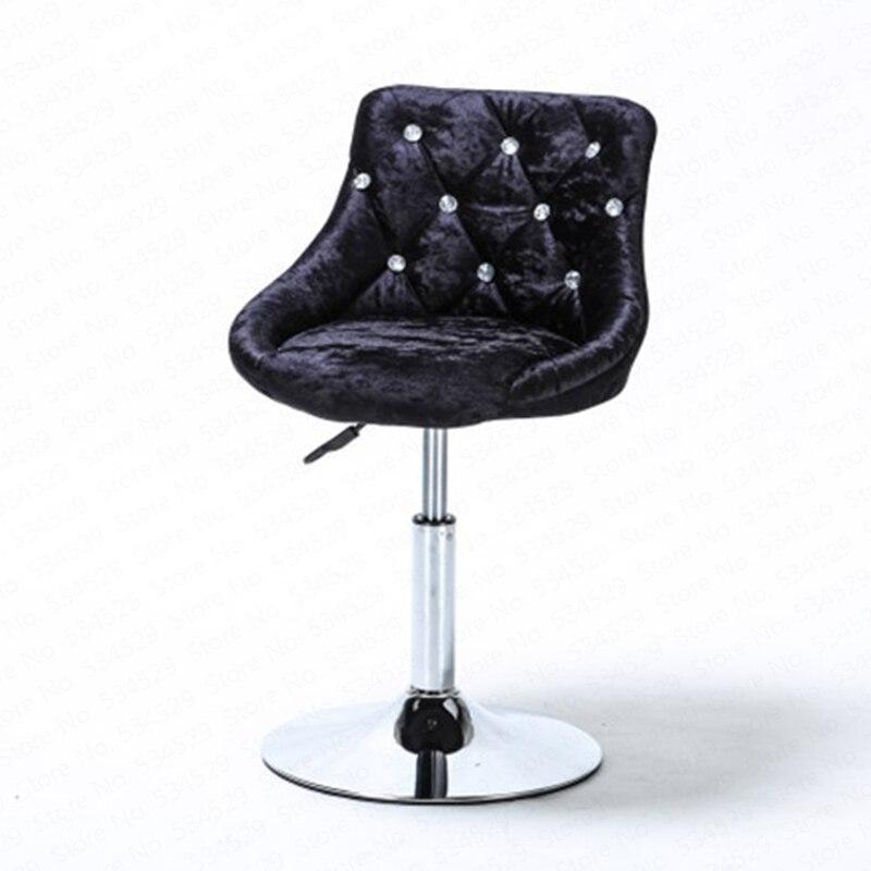 B Bar Stool Modern Minimalist Bar Chair Lift Rotating Backrest Chair Home High Stool Bar Nails Stool