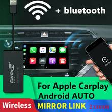 Carlinkit Carplay A3 Wireless for Apple Carplay Adaptador Android Auto Dongle Car Play Iphone USB CAR WIFI Bluetoot Mirror Link carlinkit usb apple carplay dongle for android auto iphone ios12 carplay support android mtk wince system car navigation player