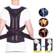 XS-4XL Adjustable Back Spine Posture Corrector Adult Humpback Pain Back Support Brace Shoulder Belt Posture Correction 3 Colors
