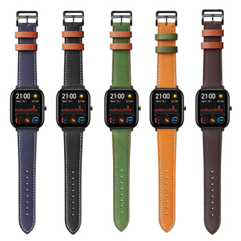 Replacement Accessories for Xiaomi Huami Amazfit GTS Leather Band for Amazfit GTR Stratos 2 2S 3 Pace Bip Watch Strap Watchband