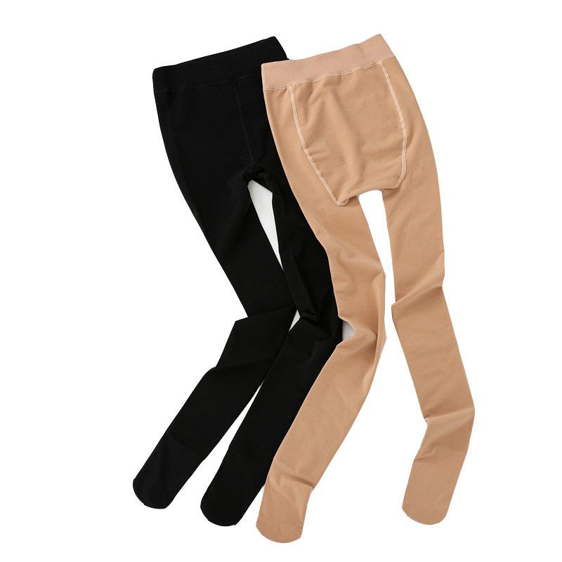 Fit 115kg Fat MM Plus Size Women Autumn winter Black High Waist Nylon Leggings Pants High Elastic Stretch Material in Tights from Underwear Sleepwears