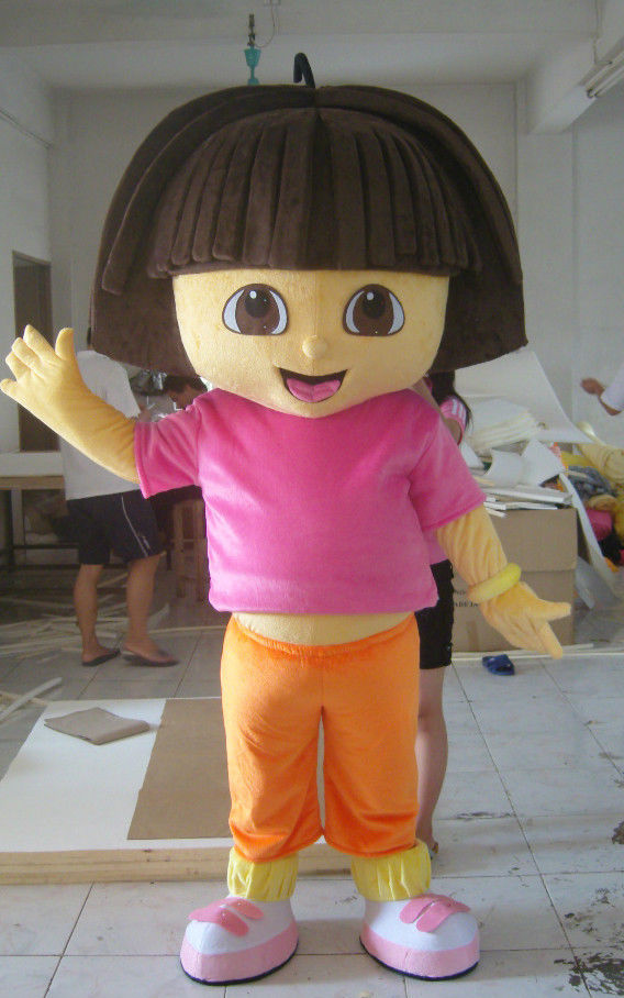 New Version The Explorer Girl Dora Mascot Costume Adult Birthday Party Fancy Dress Halloween Cosplay Outfits Clothing Xmas