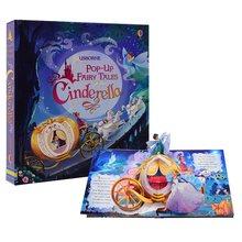 Pop up conto de fadas cinderela inglês educacional 3d aleta imagem livros crianças crianças livro leitura