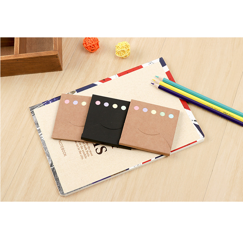 100pcs/pack Fashion Kraft Paper Cover Memo Pad Notepads Office School Supplies Posted It Planner Stationery