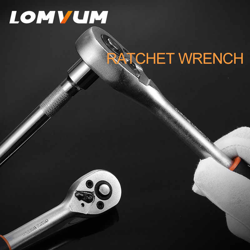 Lomvum 1/4-Inch Dopsleutel Set Hand Extension Bar Ratelsleutel Spanner Voor Fiets Motorfiets Auto Repareren Tool Set wrench