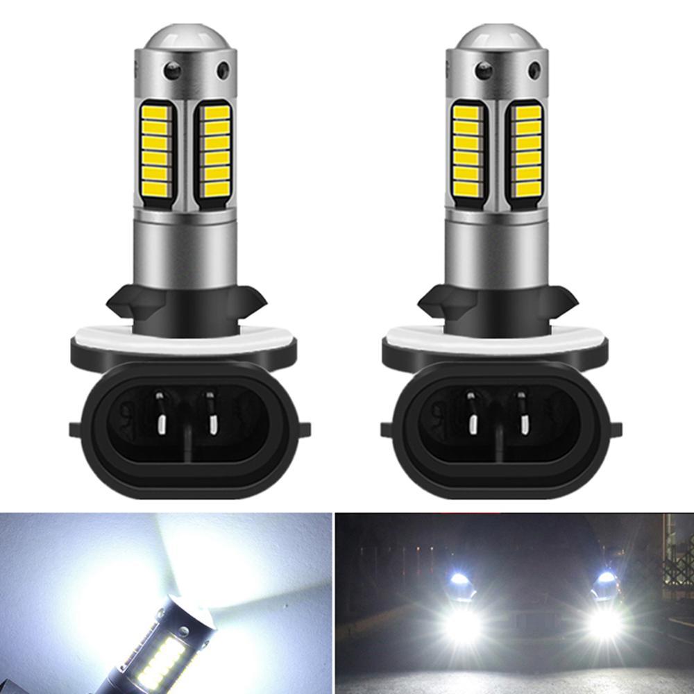 2 шт. H27 светодиодный 881 светодиодный фонарь H27W2 автомобильный противотуманный светильник передняя фара для вождения автомобиля 12 В H27W/2 H27W св...