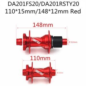 Image 4 - FASTACE DA201 F/R DEORE XT M8100 M7100 FH BH HUB 12 s Hub 32H 135x10mm 100x9mm E THRU aks bisiklet 12 hız mikro SPLINE Hub