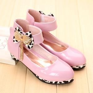 Image 3 - Trẻ Em Mới Công Chúa Chân Cao Cấp Cho Bé Gái Giày Da Thời Trang Hoang Dã Màu Tím Bướm Giày Trẻ Em Đảng Cưới Giày Khiêu Vũ