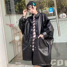 LANMREM 2020 Spring New Products Fashion Lapel Loose Solid Color Nine point Sleeves Long Casual Coat Women PA851
