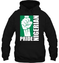 Men Hoodie Funny white Black tee Nigeria Nigerian Power Nigerian Flag black Women Streetwear(China)