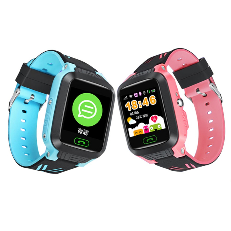 Kids GPS Smart Watch Children 2G SIM Calls Chat Anti-lost SOS Remote Safety Monitor For Android IOS