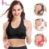 Frauen Kompression Sport Bh mit Telefon Tasche Push-Up Unterwäsche Weibliche Top Gym Fitness Sport Bh Yoga Hemd Bhs SEXYWG