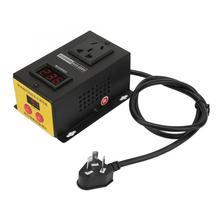 4000W SCR Electronic Adjustable Variable Thyristor Electronic Voltage Regulator AU Plug 220V Motor Adjust Controller