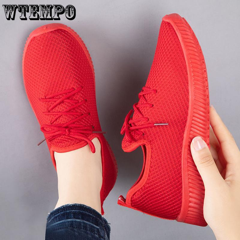 WTEMPO-zapatillas De Deporte Vulcanizadas Para Mujer, Zapatos Deportivos Transpirables De Malla Para Verano, Tenis, 2021