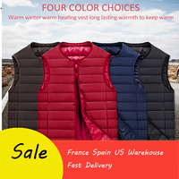 Electric Vest Heated Cloth Jacket USB Warm Up Heating Pad Body Winter Warmer electrical heated vest winter men heated jacket