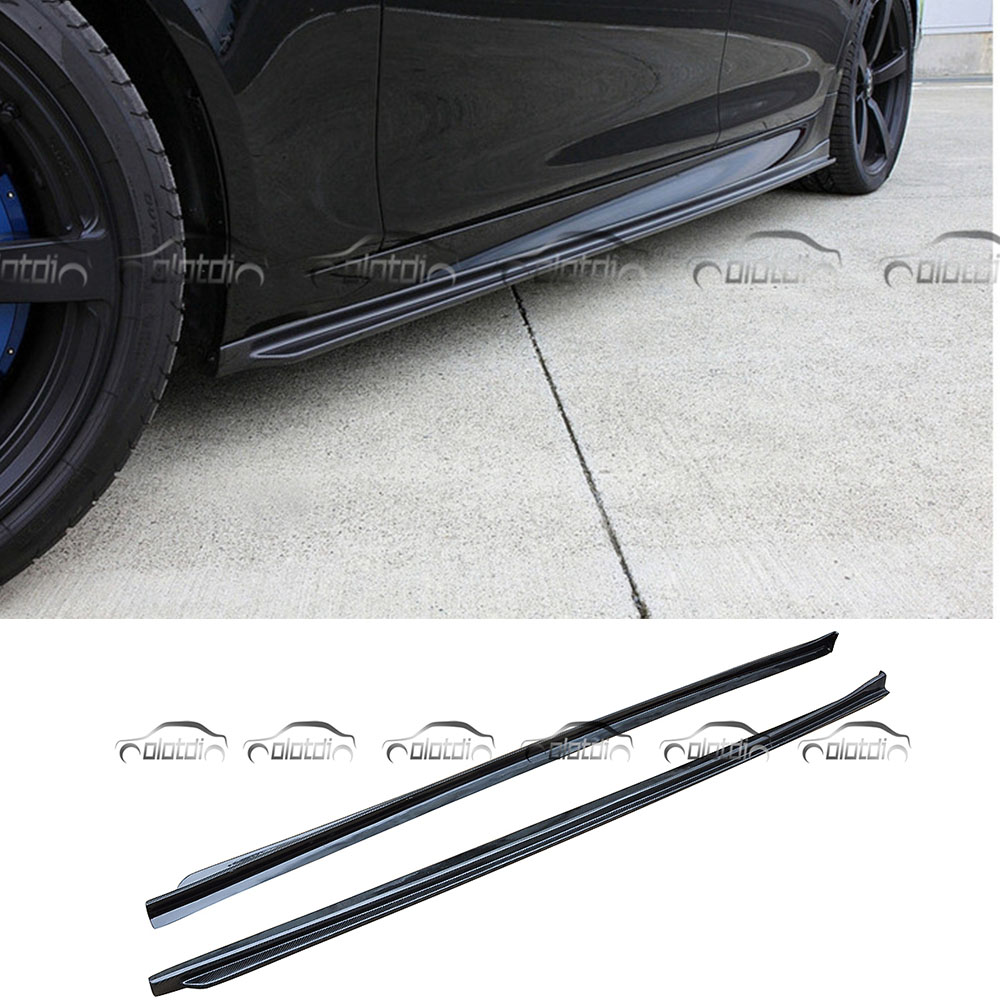 OLOTDI voiture Tuning 3D Style réel fibre de carbone jupes latérales kits de carrosserie Extension lèvres pour BMW F10 M5 m-tech