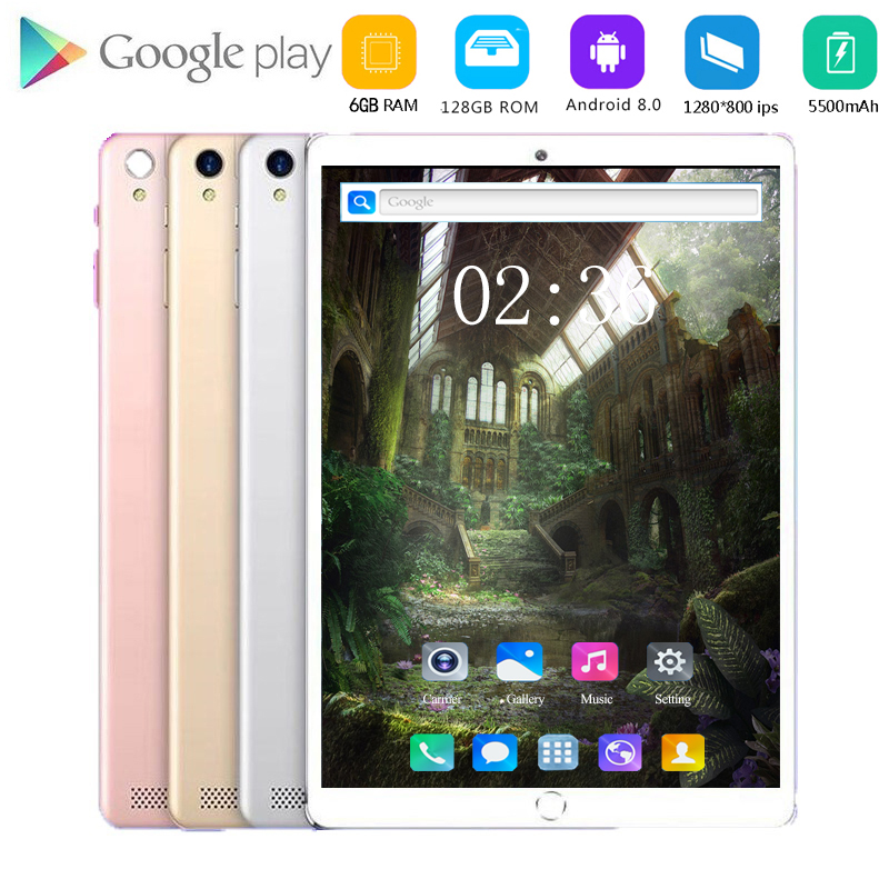 4g LET Tablet PC 10.1 Inch Android 8.0 Smartphone Octa Core 6GB Ram 128GB Rom Dual Cameras GPS WiFi Cheapest Gaming 10