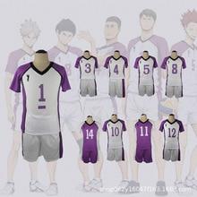 Details about  /Anime Haikyuu Cosplay Shiratorizawa Gakuen Koukou Sportswear Uniform Coat