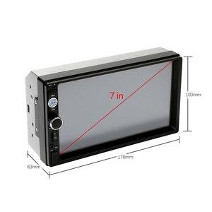 """Image 3 - Podofo autorradio 2 din con pantalla táctil HD de 7 """", función Mirrorlink, Bluetooth, reproductor Multimedia MP5 estéreo, cámara de visión trasera"""