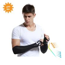 Arm Sleeves UV Protection Cooling Sunblock Protective Gloves Long Cover for Running Golf Cycling Breathable
