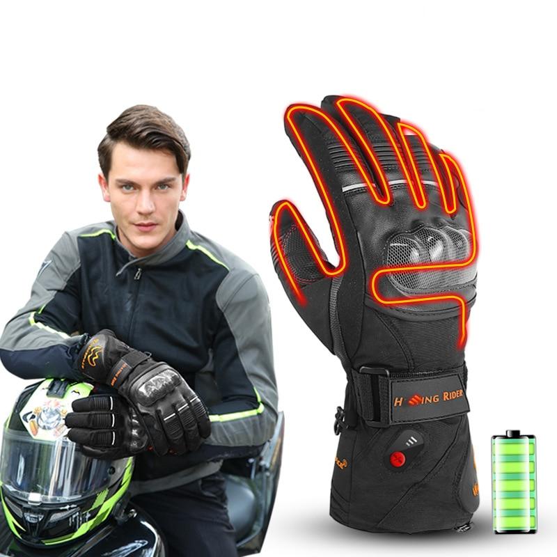 Hommes Moto gants chauffants cavalier étanche coupe-vent Guantes Moto Motocicleta Moto équitation chaud course gants dhiver