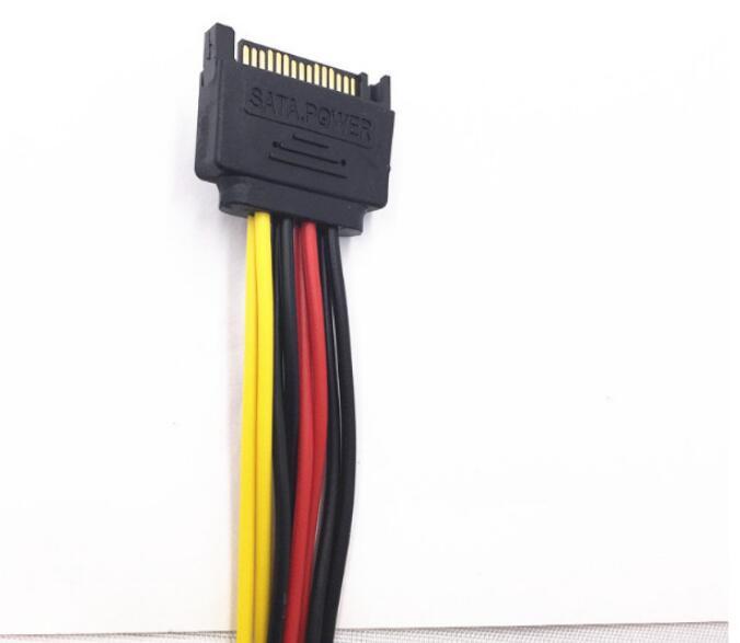 Кабель для передачи данных, двойной женский шнур питания, 15P, 2, 15P, женский, одна точка, две проводки для передачи питания, 1 точка 2
