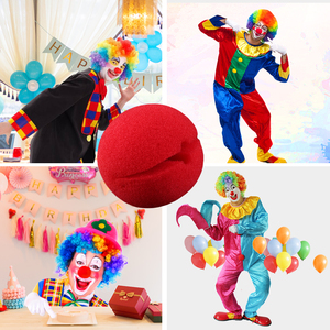 1PCS Red Sponge ball Sponge Nose Soft Clown Nose Funny Cosplay Prop for Halloween Costume Party
