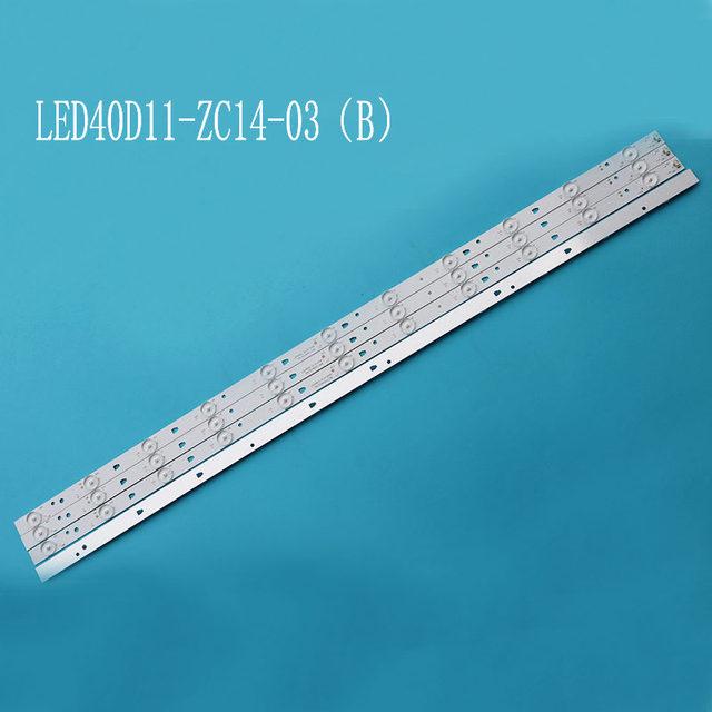 1 ชุด = 4 ชิ้นสำหรับ LE40F3000WX LK400D3HC34J LED Backlight 11 โคมไฟ JVC LT 40E71 (A) LED40D11 ZC14 03 (B) LED40D11 ZC14 01 30340011206