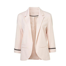 Fashion Women Blazer Cropped Sleeve Suit Clothing Business Suits Spring Autumn All-match Blaser Feminino Mujer 2019