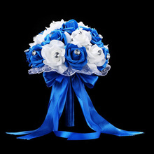 Wedding-Bouquet Bouquet-Accessories Flower-Rose Bridal Ramos-De-Novia Artificial White