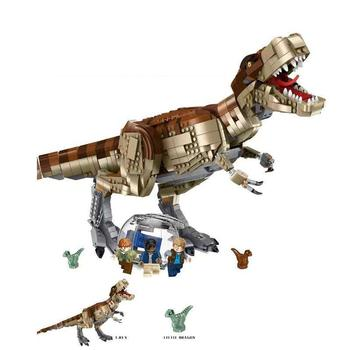 1538Pcs NEW 82200 Jurassic Dinosaur World Park movie T. rex Rampage Building Blocks Bricks Kids Toys Christmas gift 16pcs building blocks avengers world park dino world dinosaur toys model kids bricks christmas gift toys