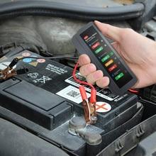 1x 12V Digital Battery Alternator Tester 6 LED Lights Display Brake Fluid Tester Auto Car Diagnostic For Cars Vehicle Motorcycle