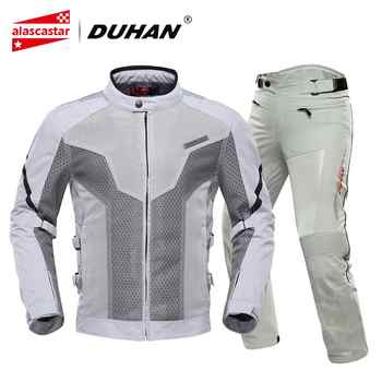 DUHAN Summer Motorcycle Jacket Men's Breathable Chaqueta Moto Jacket Mesh Riding Jacket Motorcycle With Removable Protector - DISCOUNT ITEM  45% OFF All Category