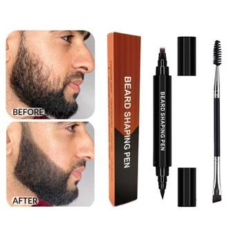 Profesjonalny męski broda długopis broda wypełnienie pióro broda barwnik pióro cztery Prong wodoodporny i odporny na pot tanie i dobre opinie MZ44415 CN (pochodzenie) 2pcs