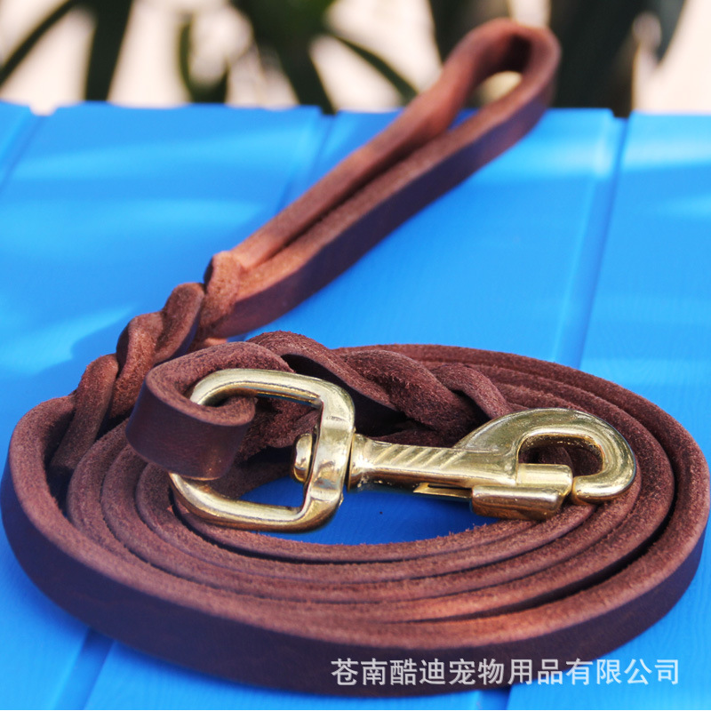 Cowhide Traction Belt Hand Holding Rope Germany Shepherd Only Dog Training Supplies German Shepherd Traction Belt