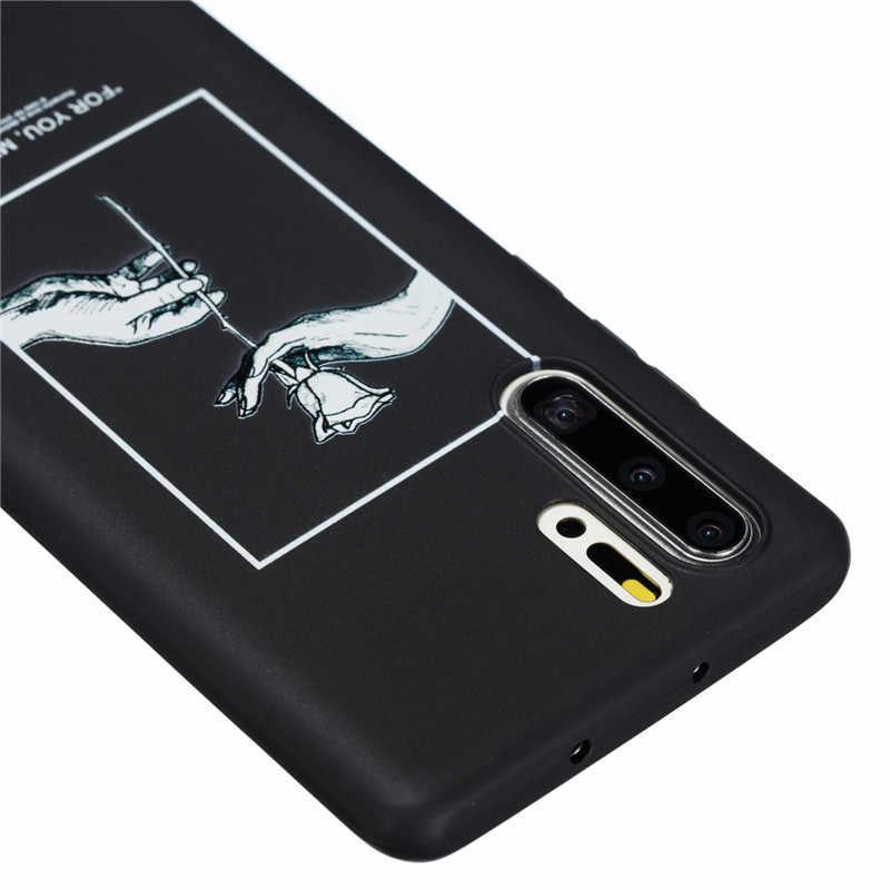 Caso Para Huawei P30 p30pro P20 Mate20 Pro Mate10 P10 P8 Lite TPU Silicone Macio Saco Do Telefone Tampa Traseira de Proteção à prova de choque Coque