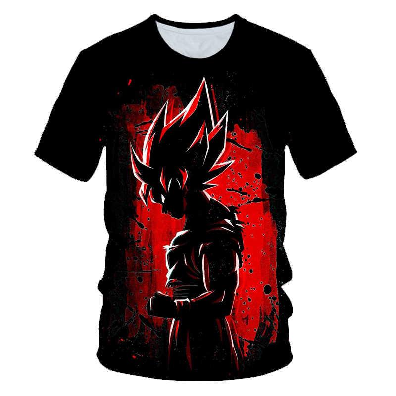Estate Dragon Ball T Degli Uomini Della Camicia T Shirt Dragon Ball z T Camicette Hip Hop Giapponese Anime black Goku Super saiyan 3d T-Shirt Vestiti