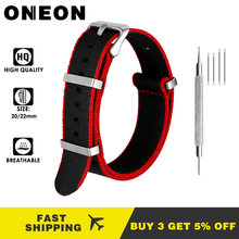 Oneon 22 Mm 20 Mm Universal Watch Band Fashion Tali Nilon untuk Galaxy Menonton Gear S3 Frontier Klasik S2 Huawei amazift Watch Band(China)