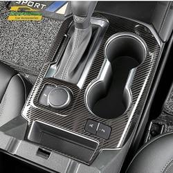 Apto para chevrolet blazer 2019 2020 acessórios do carro abs carbono painel de mudança de engrenagem do carro adesivo capa guarnição 1pcs mão esquerda