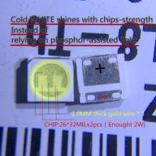 2000 pièces led led rétro éclairage 2W 6V 3535 alternative pour LG blanc froid LCD rétro éclairage pour TV TV Application 2 puce de haute qualité