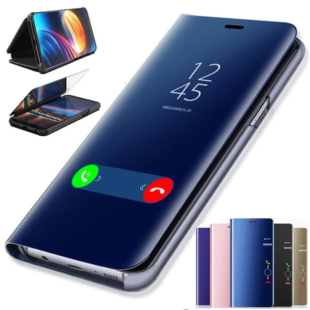 Умные зеркальные флип-чехлы для Huawei P40 Lite, чехол для Huawei P 40 Light E P40lite P40lite, чехол для телефона, подставка, чехол-книжка, чехлы