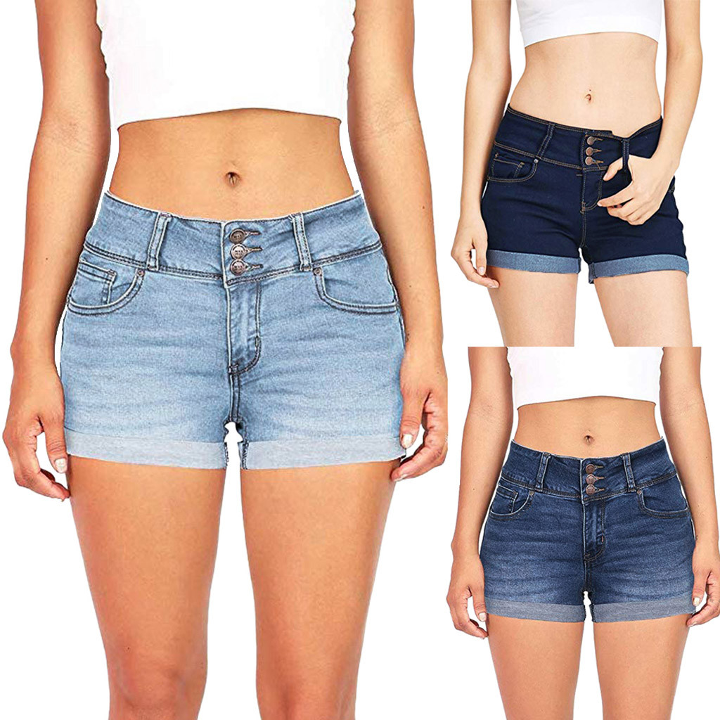 Summer New Fashion Jeans Women Low Waisted Washed Solid Short Mini Jeans Denim Pants Shorts Free Ship джинсы женские Z4