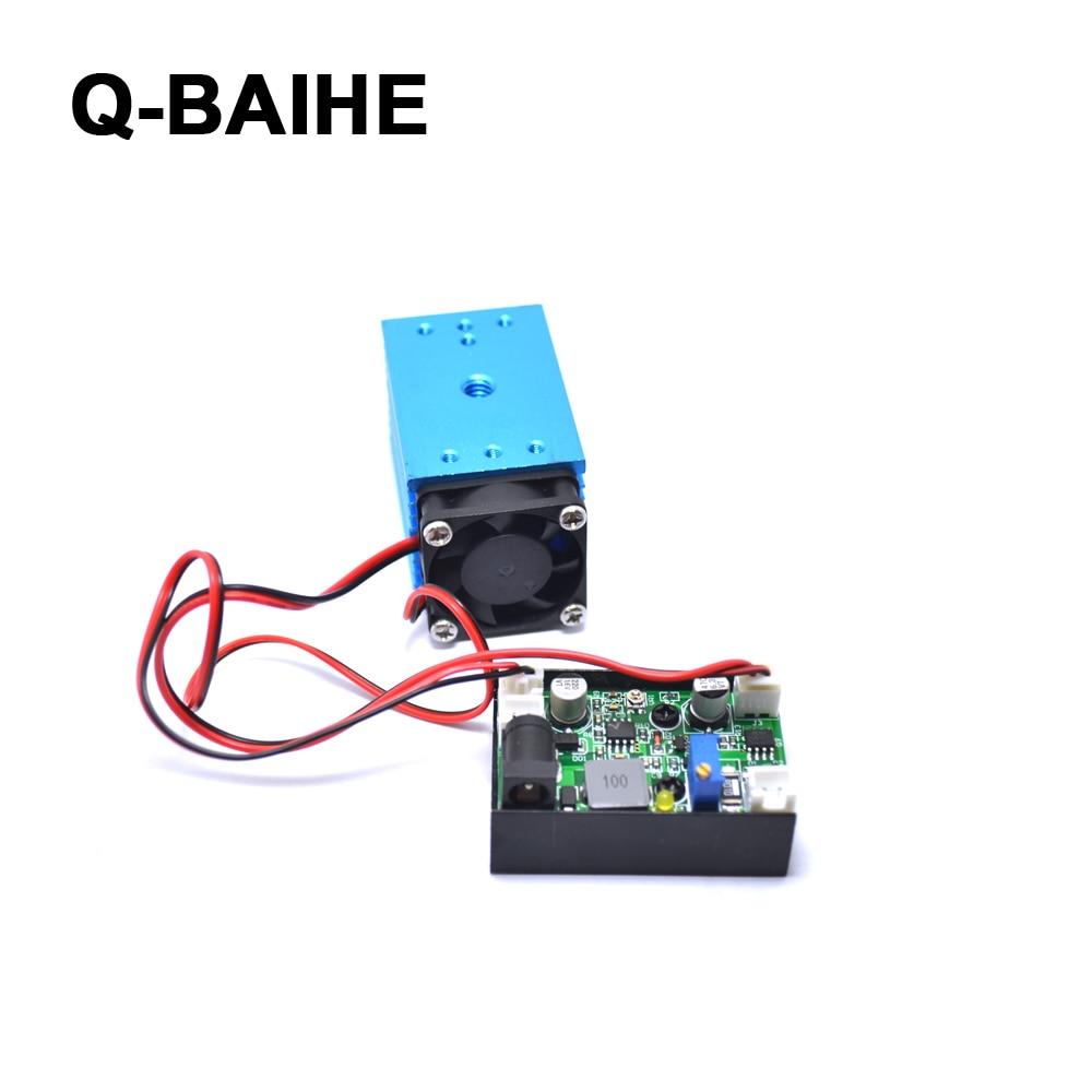 12V 488nm 60mW регулируемый синий свет точка сцены/линия/Крест лазерный модуль - 3