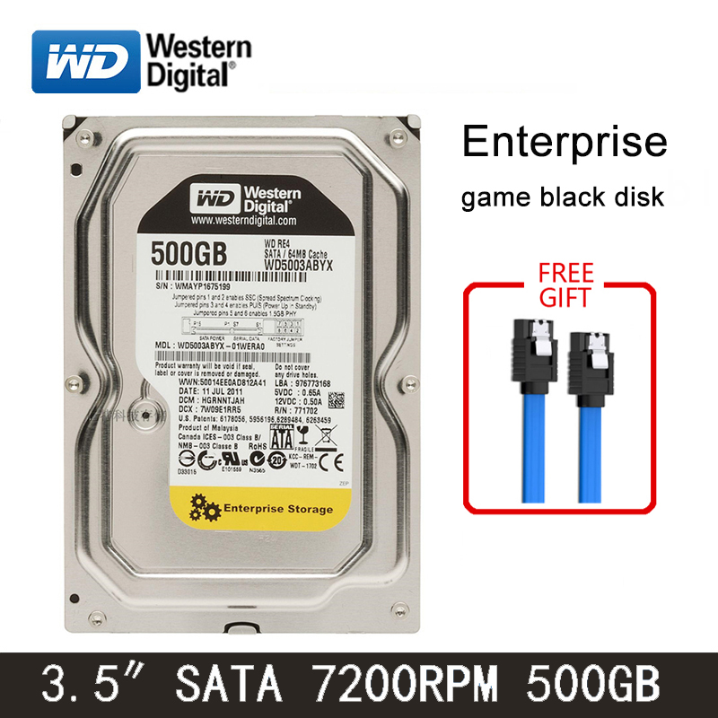 WD Black Disk 500GB Internal Hard Drive 3.5 Inch 7200RPM SATA3 HDD 6Gb/s 64MB Green Disk 32MB HD Hard Disk For Desktop Computer