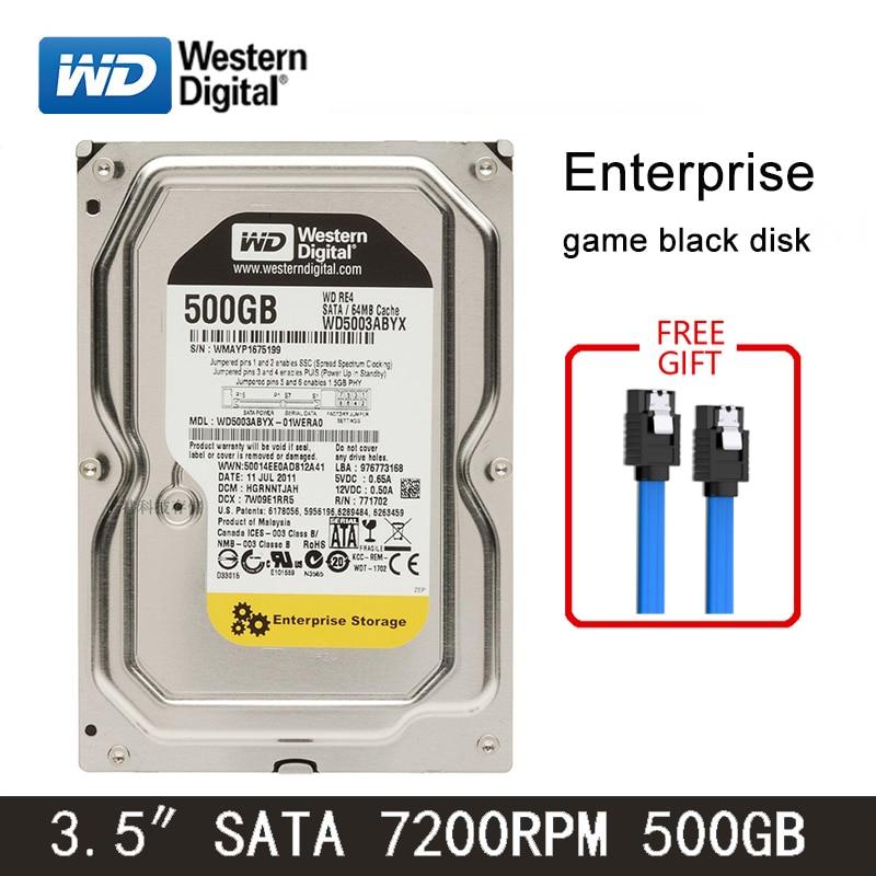 WD Black Disk 500GB Internal Hard Drive 3.5 Inch 7200RPM SATA3 HDD 6Gb/s 64MB Green Disk 32MB HD Hard Disk For Desktop Computer