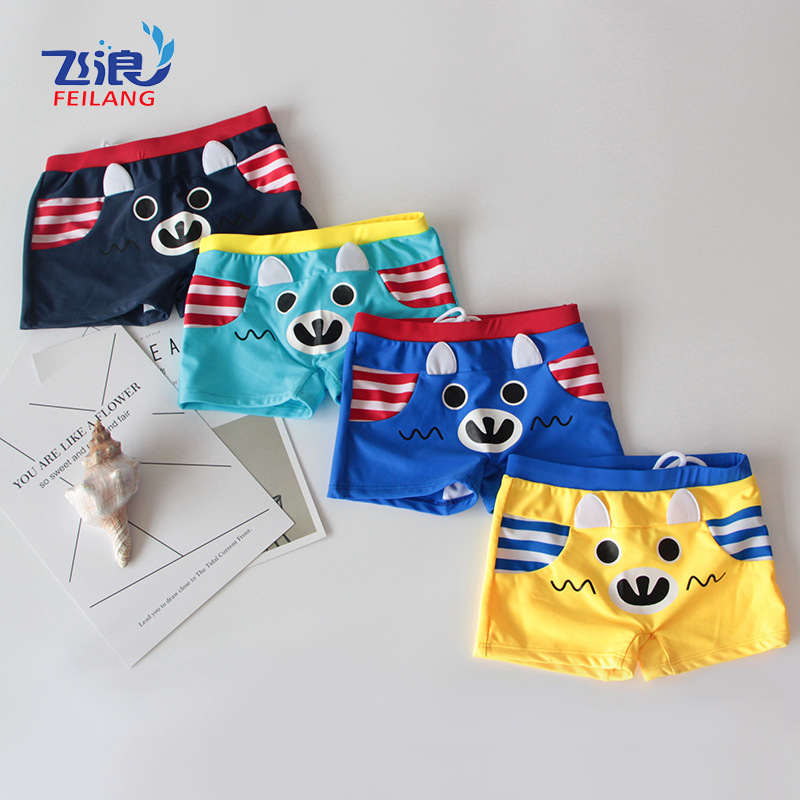 Hot Selling Hot Sales Large Children Boxer Swimming Trunks Beach Hot Springs Children Swimming Trunks Men's Foreign Trade Manufa