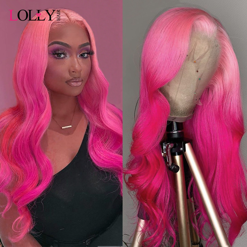 Lolly Body Wave Wigs Brazilian Lace Front Wigs Colored Remy Human Hair Wigs 13x4 Lace Front Wig Pre Plucked For Black Women