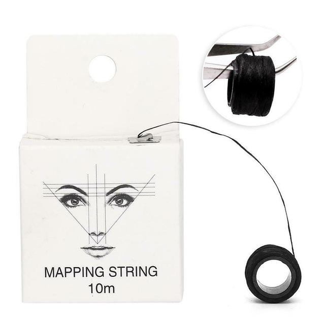 Microblading Mapping String Pre-inked Eyebrow Marker Line Eyebrow Line Thread Positioning Tattoo Kit Eyebrow N3U8 1