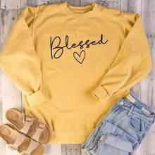 Women Hoodies Christian Faith Jumper Girl Art Top Graphic Sweatshirt Funny Letter Long Sleeve Tumblr(China)